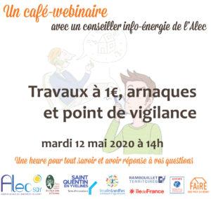 Un café-webinaire avec un conseiller info-énergie de l'Alec – mardi 12 mai à 14h