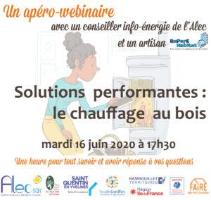 Apéro-webinaire Les solutions performantes : le chauffage au bois – mardi 16 juin à 17h30