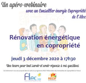 Rénovation énergétique en copropriété : un webinaire pour tout savoir le jeudi 3 décembre