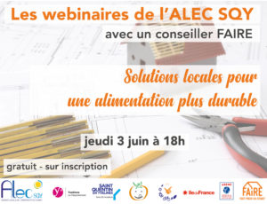 Read more about the article Nouveau webinaire Solutions locales pour une alimentation plus durable – Jeudi 3 juin à 18h
