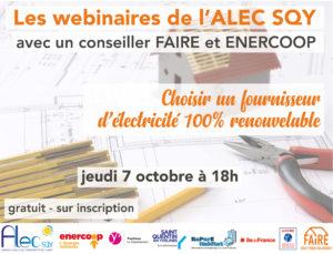 Read more about the article Webinaire Choisir un fournisseur d'électricité 100% renouvelable – Jeudi 7 octobre à 18h