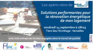 Read more about the article Apéro-réno : Solutions performantes pour la rénovation énergétique de mon logement – vendredi 24 septembre à 18h15 à Versailles